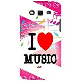 For Samsung Galaxy Grand 2 :: Samsung Galaxy Grand 2 G7105 :: Samsung Galaxy Grand 2 G7102 I Love Music ( I Love Music, Good Quotes, Nice Heart, Heart, Nice Quotes ) Printed Designer Back Case Cover By FashionCops