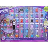 Polly Pocket FASHION SUPER COLLECTION 50+ Pieces w 5 DOLLS (2009)