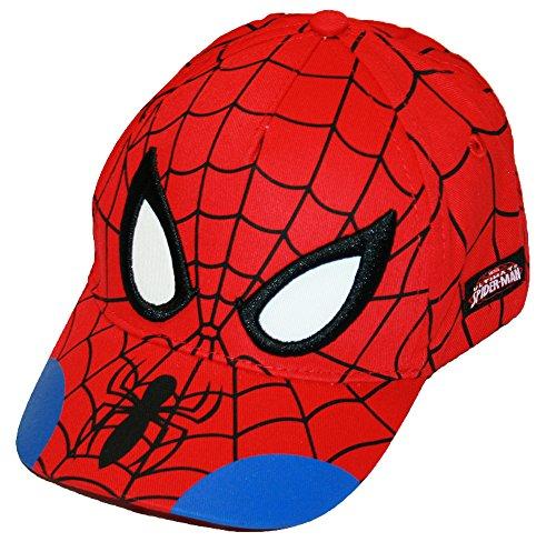 Marvel Spider-Man Little Boys Character Baseball Hat, Red/Blue