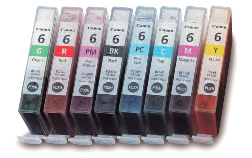 Canon BCI-6 Color Ink Tank 8-Pack Set-Black (Canon Color Ink 8 compare prices)