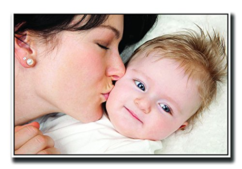 Posterhouzz Mother Kissing newborn baby Fine Art Paper Print Poster  available at amazon for Rs.199