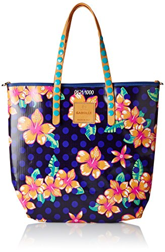 GabsGABSILLE - Borsa con Maniglia Donna , Multicolore (Mehrfarbig (P0015)), 42x37x13 cm (B x H x T)