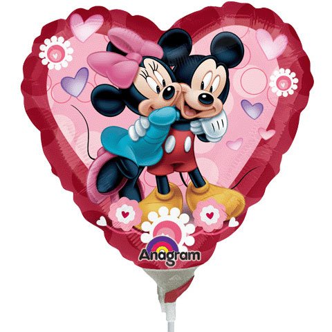 Mickey & Minnie Heart Mini Anagram Balloons