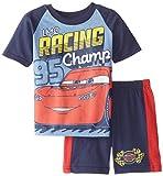 Cars Little Boys' Disney's Short Sleeve Tee and Jersey Short 2-Piece Set