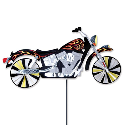47 in motorcycle flame spinner home garden decor wind for Garden spinners premier designs