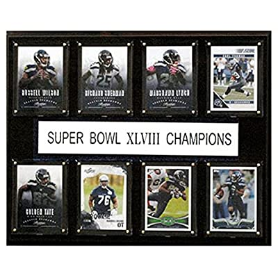 C and I Collectables NFL 15W x 12H in. Seattle Seahawks Super Bowl XLVIII 8 Card Plaque