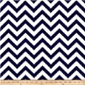 "Navy Blue Chevron Valance Curtain, Baby Nursery window treatment. Blue and white stripes. 54 "" wide"