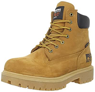 """Timberland PRO Men's 65016 Direct Attach 6"""" Steel Toe Boot,Yellow,7 M"""