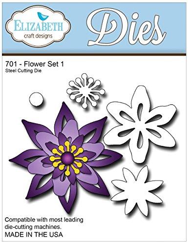 Elizabeth Craft Designs EC701 Metal Die, Flower Set 1 sweet jojo designs elizabeth fitted crib sheet