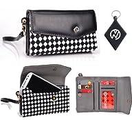 Black / White Checkers Clutch Phone Case Cover Fits Motorola Moto X + NuVur +#153; Keychain…