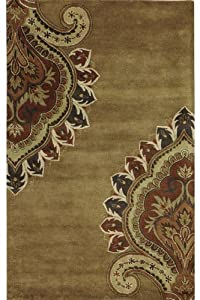 "Amour Area Rug, 5'9"" ROUND, GOLD"