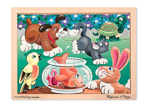 Melissa & Doug Playful Pets Jigsaw Puzzle 12 Pc 2932 Brand New - 1