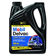 Mobil 1 96819 15W-40 Delvac 1300 Super Motor Oil - 1 Gallon (Pack of 4)
