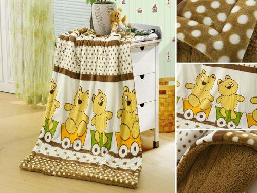 Baby Borrego Soft Blanket Little Bear Micro Fleece Bed Throws Children Kid - 1
