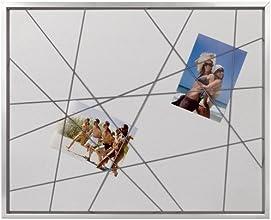 Brio 30323 Cadre Photo Pêle-Mêle Elastique Argent 40 x 50 cm