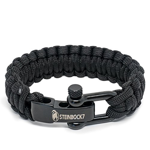steinbock7 paracord survival armband edelstahl verschluss einstellbar ink steinbock7. Black Bedroom Furniture Sets. Home Design Ideas