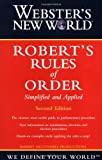 img - for Webster's New World Robert's Rules of Order Simplified and Applied book / textbook / text book