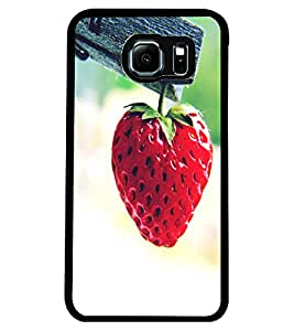 ColourCraft Strawberry Design Back Case Cover for SAMSUNG GALAXY S6 EDGE