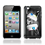 IKiki-Tech Hard Case Cover for Apple iPod Touch 4 - Cute Hamster & Earphones