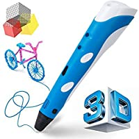 Manve Intelligent 3D Printing Pen, 3D Drawing and Doodle Model Making Arts & Crafts Drawing , ABS Fibrous Material and Power Supply , Promote Children's Brain Development , Most Suitable DIY Gift by Manve Direct