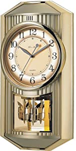 New Haven 19 by 10 by 4-Inch Melodies in Motion Pendulum Clock
