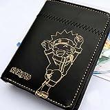 Market-one Anime Naruto Uzumak Black Short Wallet Cosplay Purse