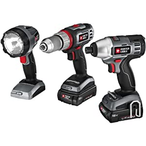 Check Price : Porter-Cable PCL318IDC-2 18-Volt Lithium-Ion Cordless 3