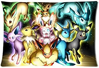 Pokemon Pocket Monster Cute Eevee Personalized Home Decoration Pillowcase Pillow Sham Queen Size Pil