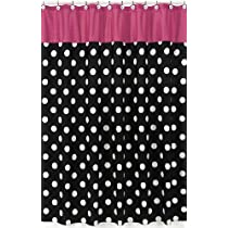 Hot Dot Modern Kids Bathroom Fabric Bath Shower Curtain by Sweet Jojo Designs