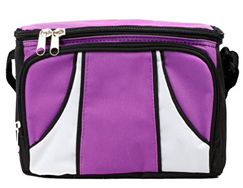 Zerd Freezable Lunch Bag With Zip Closure Purple