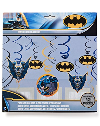 DesignWare Batman Swirl Decoration Foil, Multicolor at Gotham City Store