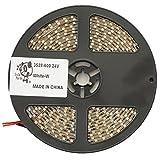 Smile Panda プロ仕様 強力粘着両面テープ 24V LEDテープ SMD 3528 600 5m 白 ホワイト 白ベース 正面発光 ハンダ付不要 両端配線済 防水 IP65 切断可能