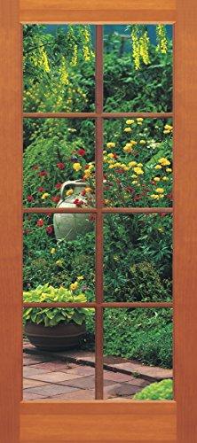 Sunny Decor - Poster da parete in 2 parti, motivo: Porta su giardino, 97 x 202 cm