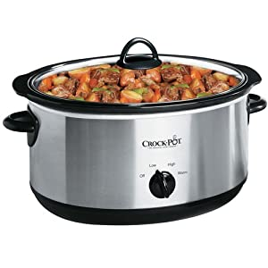 Crock-Pot SCV700SS 7-Quart Oval Manual Slow Cooker, Stainless Steel