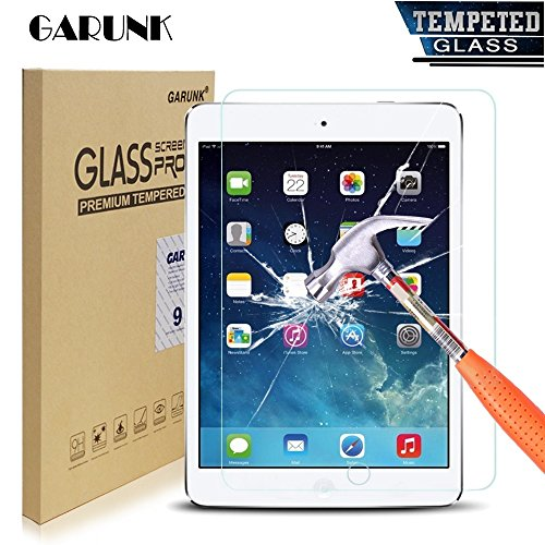 Tempered Glass Screen Protector,GARUNK for Apple iPad 2 / iPad 3 / iPad 4 9.7 Inch [9H HD Premium Tempered Glass],[0.26mm Thickness]99.9% Light Transmission, Most Durable (Ipad Protective Screen Cover compare prices)