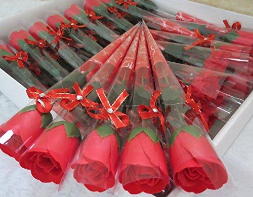 薔薇の花束 ペーパーフラワーソープ 5本セット バラの香り