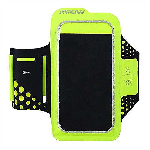 Mpow アームバンド ランニングポーチ 厚さ0.2cm超薄型 イヤホン/鍵収納可能 防汗/防滴仕様  iPhone6/iPhone6Sなど4.7インチスマホに対応