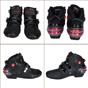 PRO Sportbike レーシングブーツ/バイク用ブーツ/ショートブーツ 強化防衛性 ライダーブーツ SIZE42/約26cm ブラック 並行輸入品