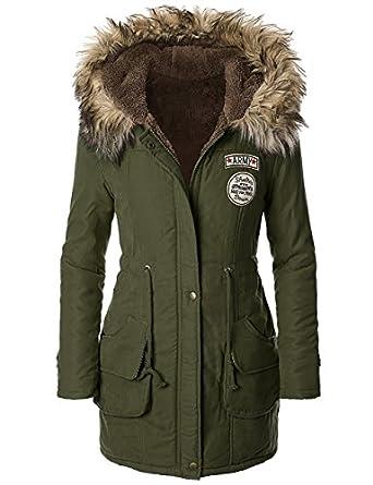 iLoveSIA(T) Womens Hooded Warm Winter Coats Faux Fur Lined
