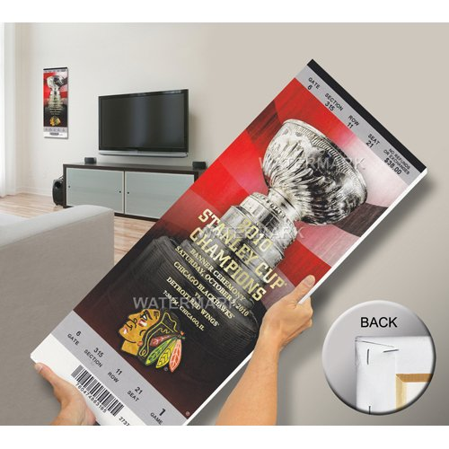 Chicago Blackhawks 2010 Stanley Cup Champions Banner Raising Mega Ticket-By BlueTECH