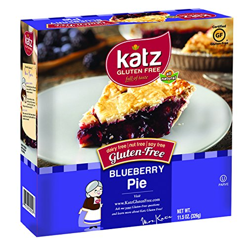 Katz Gluten Free Blueberry Pie, 11.5 Ounce, Certified Gluten Free - Kosher - Dairy, Nut & Soy free - (Pack of 6)