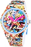 Swatch Sprinkled Graphic Dial Plastic Silicone Quartz Men's Watch SUOW705