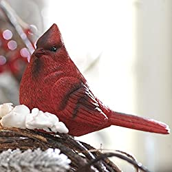 Red Cardinal Bird Clip-on Christmas Tree Ornament - 4 Inches X 2.5 Inches