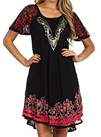 Sakkas Royal Palm Batik Dress / Cover Up