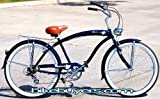 Micargi Rover 7-speed Retro 26&#8243; Beach Cruiser Bike for men Schwinn Nirve Firmstrong Style DB