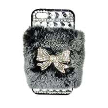 buy Iphone 5S Case,[Handmade] Fluffy Extreme Luxury Bling Case [Rex Rabbit] [Bling Diamond] For Apple Iphone 5S Chirstmas Gift Daughter Birthday Gift + Logo Stylus And Screen Film