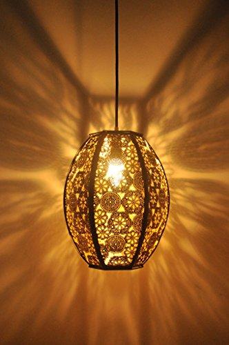 Logam Black and Gold Turkish Hanging Lamp