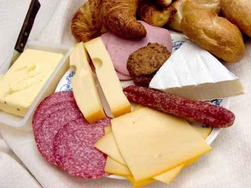 Breakfast, Fresh Bread, Cheese and Meat. - 24