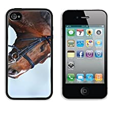 buy Msd Apple Iphone 4 Iphone 4S Aluminum Plate Bumper Snap Case Brown Stallion Portrait Of A Sports Brown Horse Riding On A Horse Thoroughbred Image 23816266