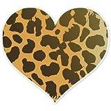 """Cheetah Animal Print Heart car bumper sticker 4"""" x 4"""""""